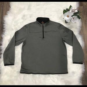 Van Heusen Traveler Gray Pullover 1/4 Zip Sweater